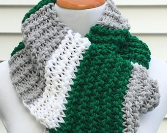 Eagles Scarf Philadelphia Eagles Scarf Team Scarf Football Scarf Striped Scarf Chunky Winter Scarf