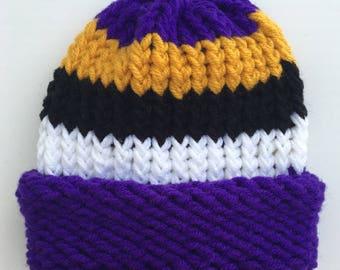 f807bddc212e0 Ravens Hat Baltimore Ravens Hat Football Hat Sports Hat Baby Ravens Hat  Sports Fan Gift Christmas Gift Knitted Winter Hat