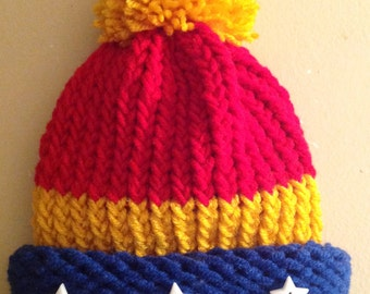 f03f49fda44 Wonder Woman Inspired Hat Girl Superhero Hat Superhero Hat Halloween  Preemie Baby Infant Toddler Child s Teen Adult Knitted Winter Hat