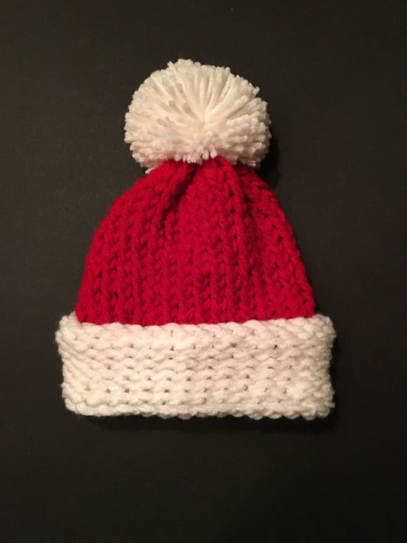 2e7b3e16876f4 Santa Hat Christmas Hat Holiday Hat Red And White Hat Holiday