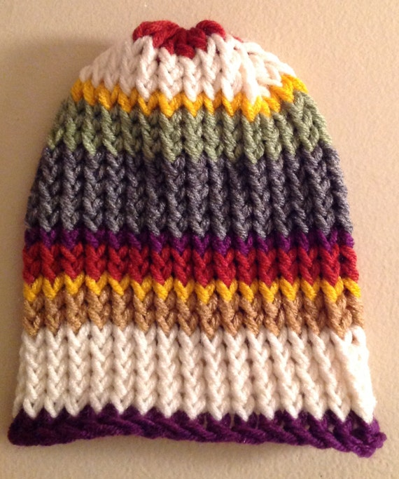 Doctor Who Inspired Hat Fourth Doctor Hat Scarf Hat Scarf Etsy