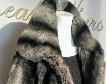 NEW!Natural Real Full skin REX   Fur BOLERO!