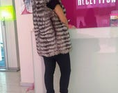 New model Real natural Silver Fullskin Fox Fur Vest