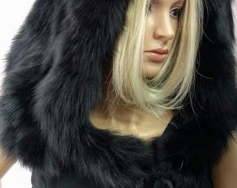 Fur HOODS In Many COLORS !New,Natural Real Fur Hood-COLLAR!