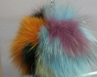 New! FOX POMPOM-keychain in Beautiful colors of fox!