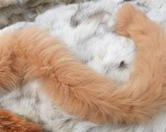 New!Natural Real light Orange Fox  scarf!