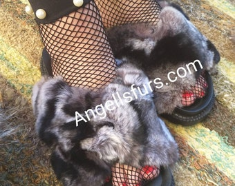 New Real Natural Rex in Chinchilla color Fur Slides!