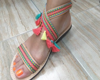 New Collection! Real LEATHER SANDALS!