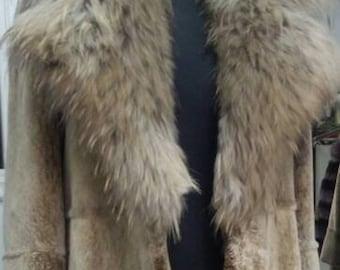 New Natural Real Beautiful Fullpelts Long Fur Coat!