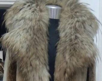 New in!!!Natural Real Beautiful Iceberg color Noutria Long Fur Coat!
