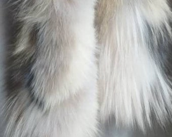 New Real beautiful super soft Natural  colors Fox Scarf!