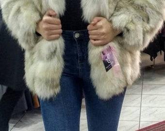 NEW!!!Natural Real Fox Fur jacket!