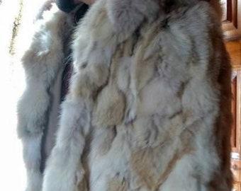 MEN'S New Real Natural  Fox Fur COAT!