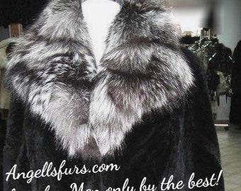 MEN'S NEW Real Natural MINK Fur Jacket!