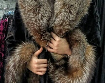 High Quality Fur!New,Natural Real MINK Fur with fullpelts CRYSTAL FOX!