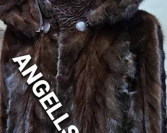 Men's MINK HOODED COAT!Detachable Hood!Brand New Real Natural Genuine Fur!