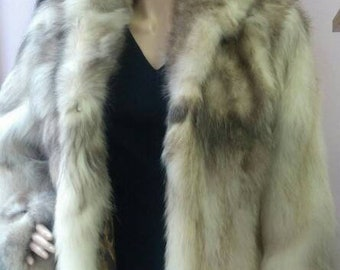 New Natural Real RACCOON Fur Coat!