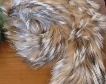 New!Natural Real Beautiful color Raccoon scarf!