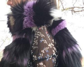 New!Beautiful Natural Real LONG FOX scarf!