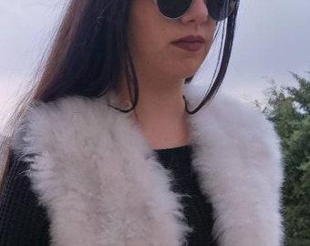 New!Natural Real Sheep Fur Vest!