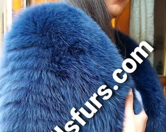 NEW Natural Real Fullpelts FOX  Fur jacket in Any color!