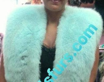 NEW Natural Real Amazing color Fullpelts FOX Fur Vest!