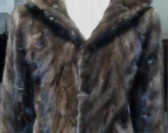 MEN'S NEW fur!Real Natural MINK Fur Jacket!