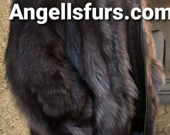 Men'S New the HOODED Version of the Real Natural SILVER FOX Fur Coat!