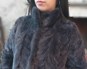 NEW!!!Fine Natural Real Beautiful color Mink Fur jacket!