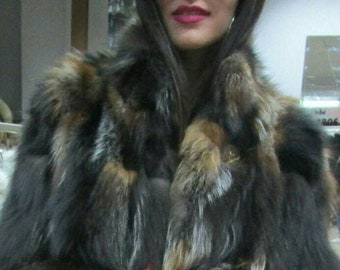 NEW Natural Real CRYSTAL FOX Fur!
