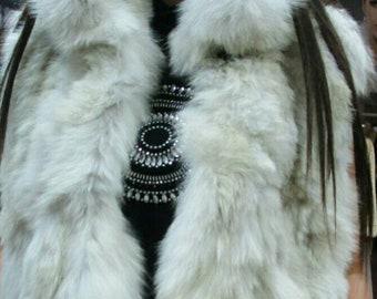 NEW,Natural,Real Fox Fur Vest!