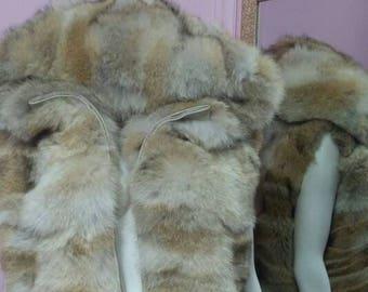 MEN'S!New HOODED Real Natural Coyote Fur Vest