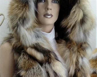 NEW! Natural,Real Fox Fur Vest!