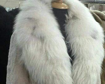 NEW IN!Natural sheared MINK Fur with Fox Collar!