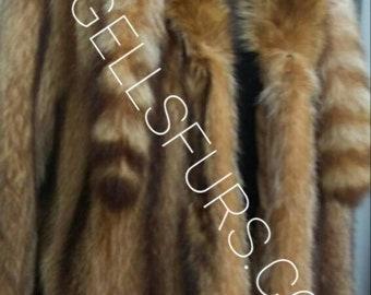MEN'S New RACCOON Long Fur Coat!