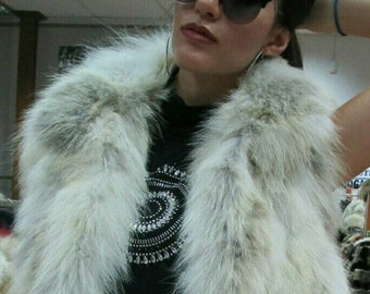 NEW!!! Natural,Real Fox Fur Vest!!!