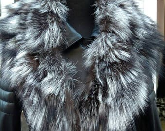 New!!!Natural Real SILVER Fox collar!