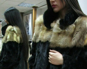New!Natural Real Modern Fullskin Mink Fur!!!
