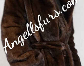 New!Natural Real Modern Superior Quality FULL LENGTH MINK Coat!