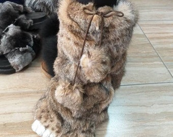 Just in! New Real Animal Print Rabbit Fur for wrapping your LEGS or your BOOTS!