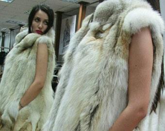 NEW! Natural,Real Coyote Fur Vest!