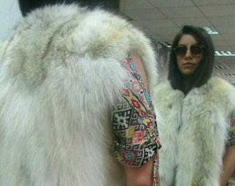 NEW Natural Real Coyote Fur Vest!