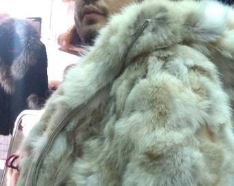 MEN'S NEW FUR!!! Real Natural Fox Fur Jacket!