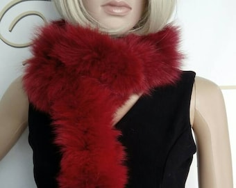 New Natural Real Red Fur Fox  scarf!