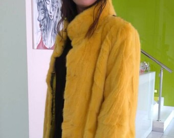 New Natural Real Modern  Amazing  color MINK Fur Jacket! Order ANY COLOR!