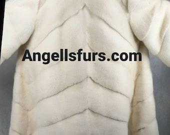 Brand New Model Natural Real Superior Quality FULLSKINS PEARL MINK Fur Coat!