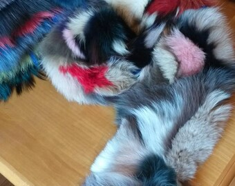 New!!!Beautiful Natural Real MULTICOLORED FOX scarf! Order in Any color!