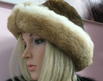 New!Natural,Real Fullskin REX Fur HAT! Unisex