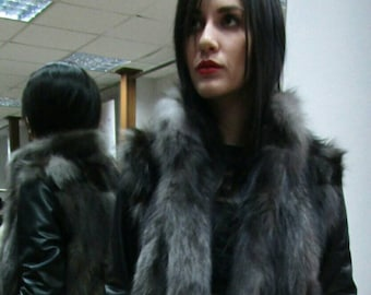 Natural New Real silver fox jacket!