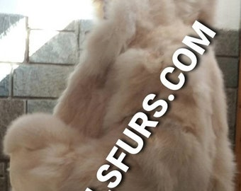 Men'S New AMAZING FLUFFY  HOODED Real Natural Light Colors Fox Fur Coat!